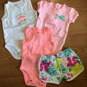 Carter's baby onesie/shorts set, 3 month